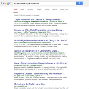 LIS:DH on Google